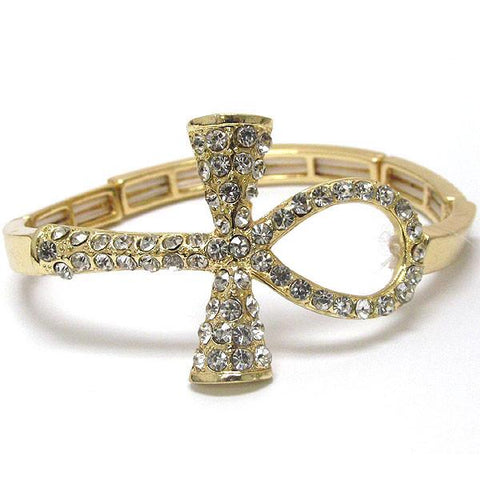 Faux Stone Cross Bracelet