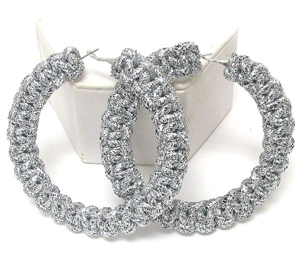 Large Silver Tone Hoop Earrings