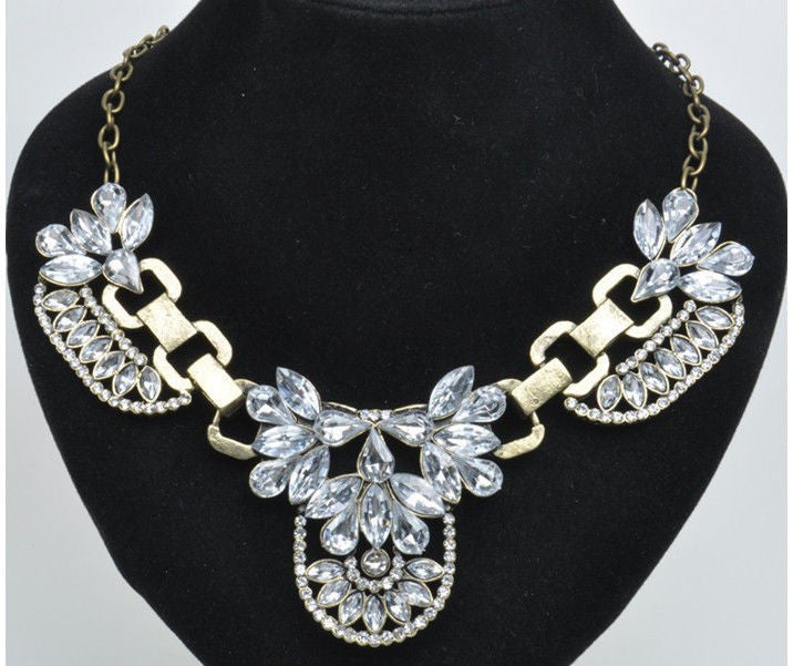 Retro Bib Statement Necklace