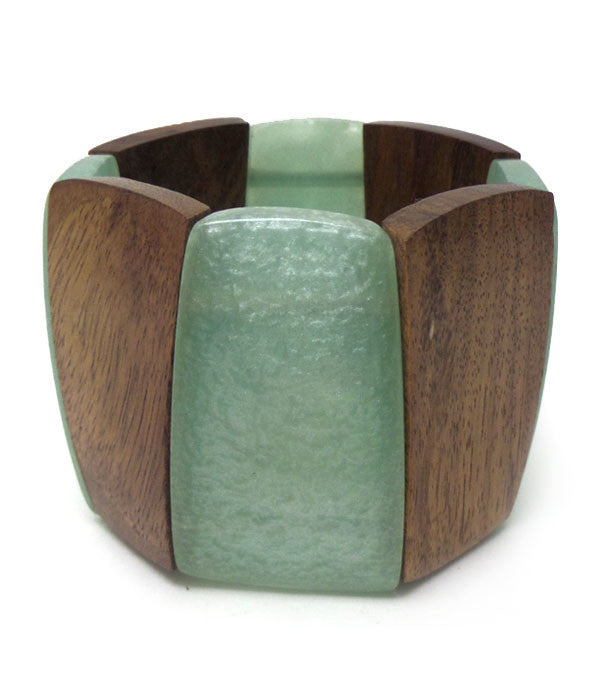 Wood Mix Large Bracelet