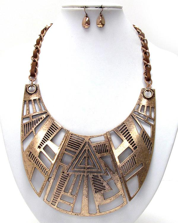 Aztec Style Statement Necklace