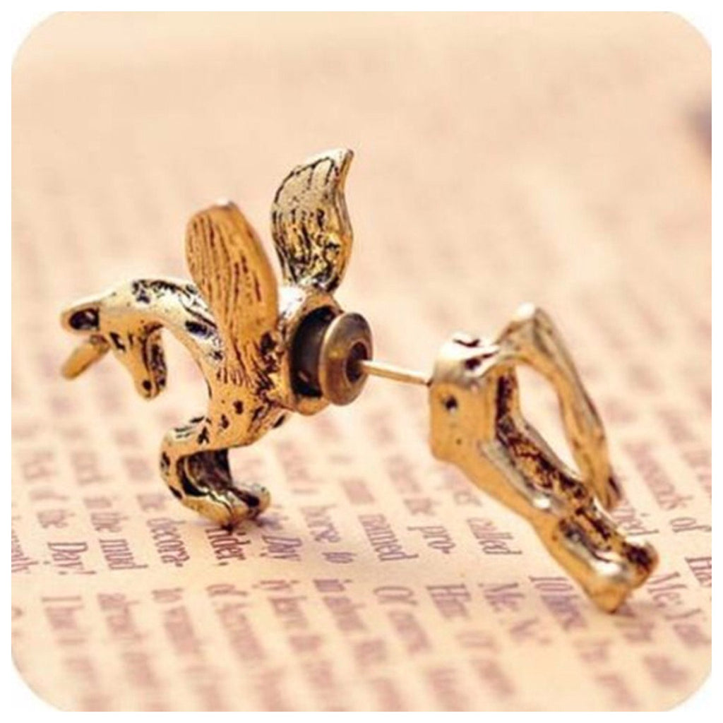 Flying Horse Two Part Earrings
