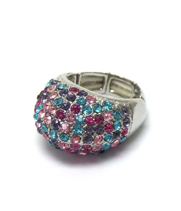 Crystal Multicolor Stretch Ring