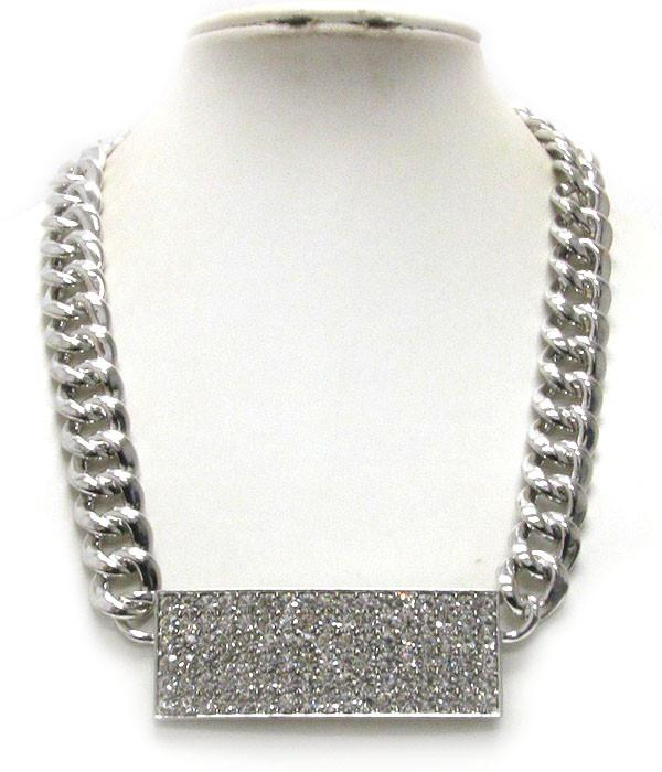 Chunky Chain Bling Necklace