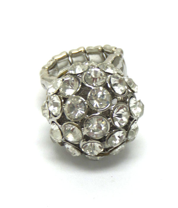 Medium Size Crystal Ball Ring