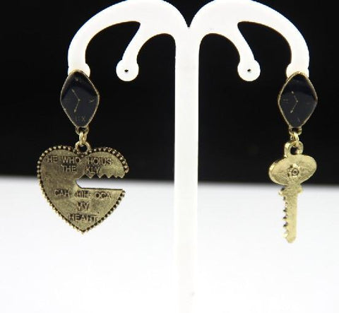 Chain Cross Drop Earrings