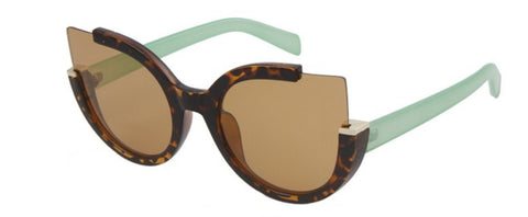 Printed Round Cat Eye Sunglasses