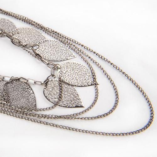 Bohemian Multilayer Leaf Necklace
