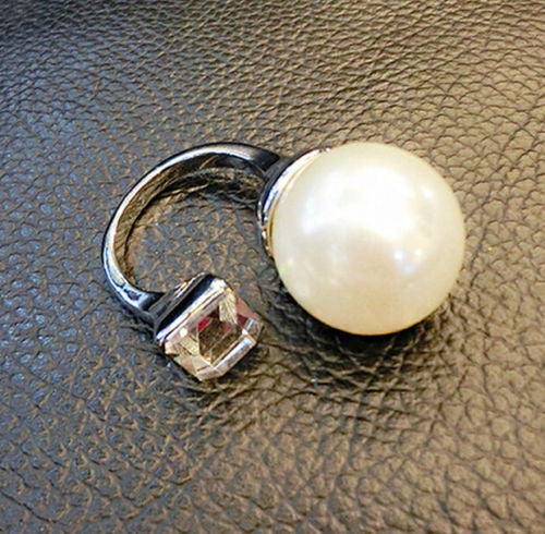 Unique Pearl and Stone Ring