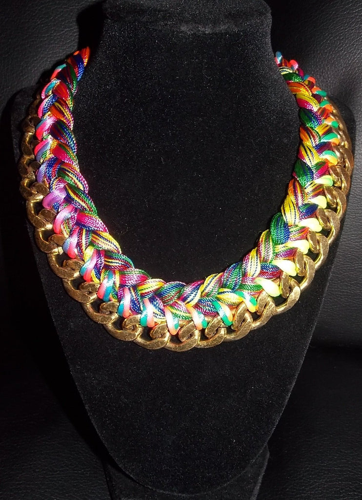 Bright Multicolor Choker Necklace