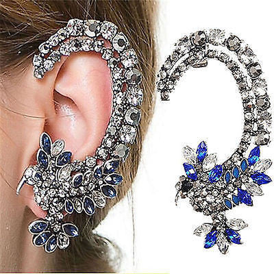 Hummingbird Crystal Ear Cuff