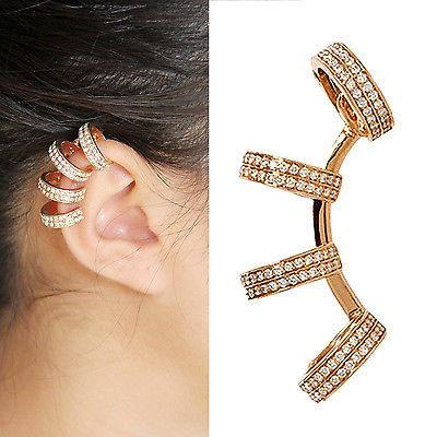 Gold Colored Bling Ear Cuff