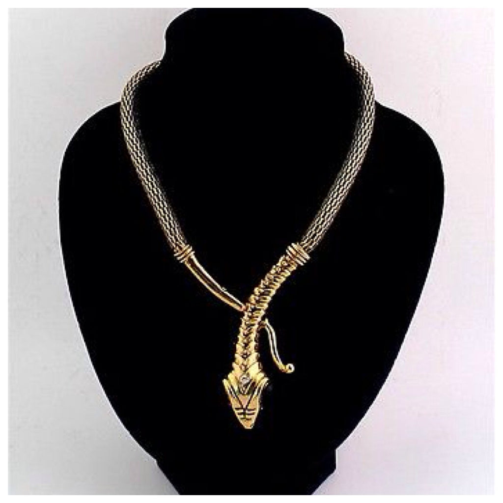 Gold Snake Wrap Necklace