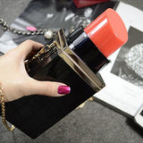 Lipstick Clutch Purse
