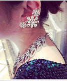 Bling Flower Ear Cuff