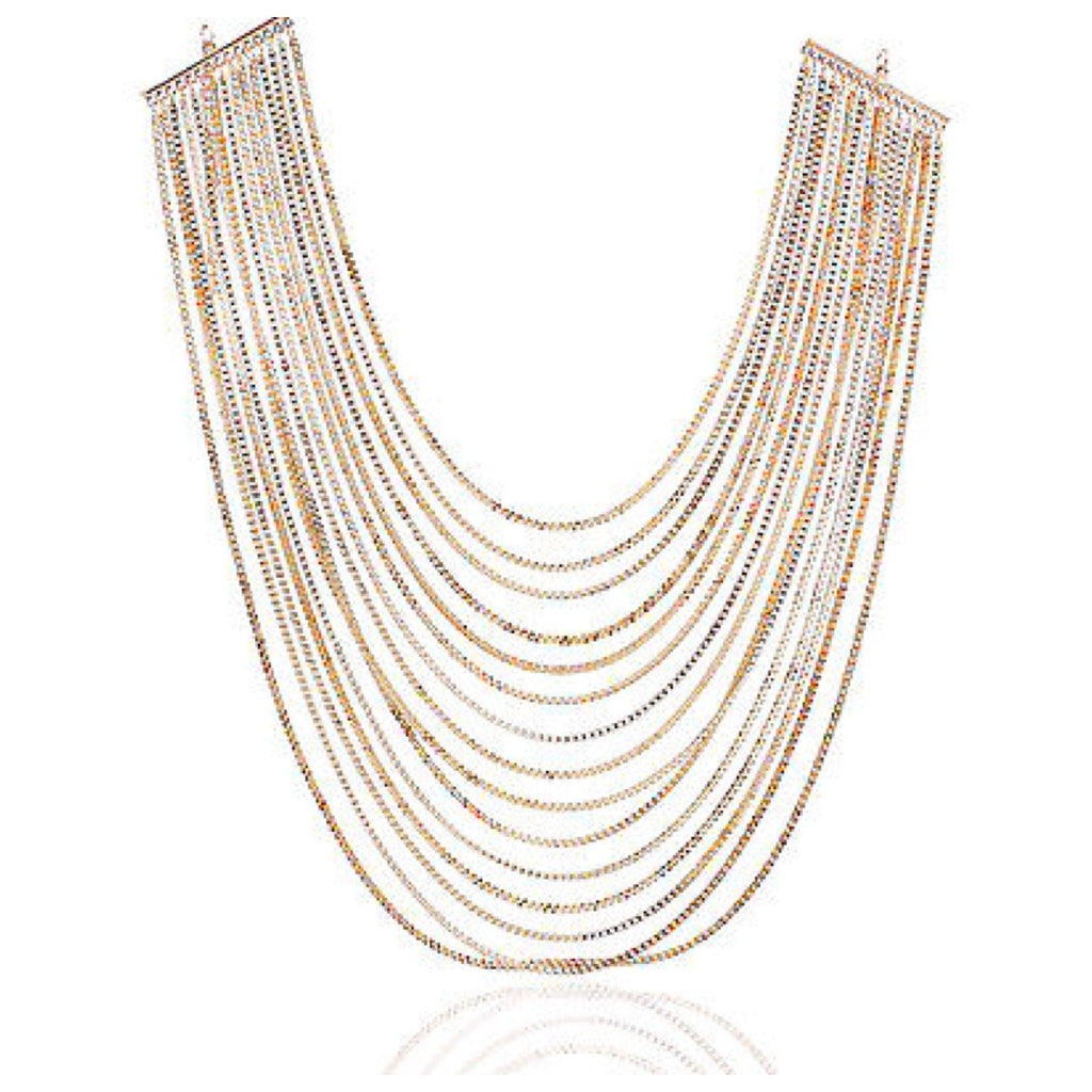 18 Carat Gold Plated Multi Chain Necklace