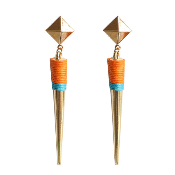 Large Spike Dangle Earrings