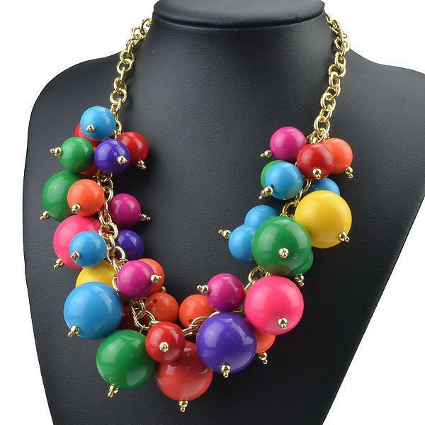 Multicolor Bubble Necklace
