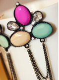 Multi Color Chain Earrings