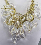 Clear Bubble Statement Necklace