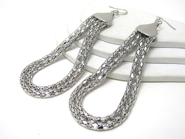Long Silver Tone Earring