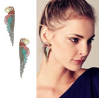 Gold Long Tassell Earrings