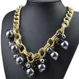 Pearl and Gem Statement Necklace