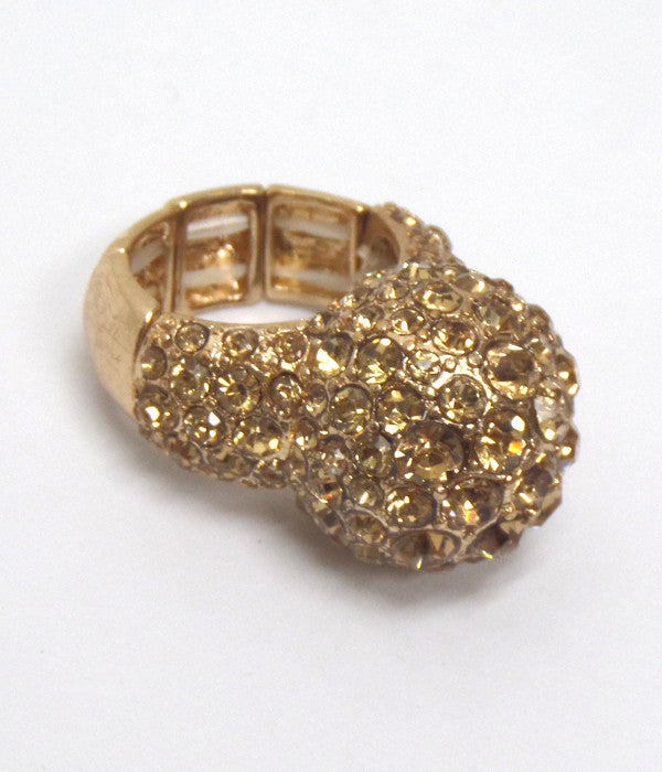 Puff Gold Stretch Ring