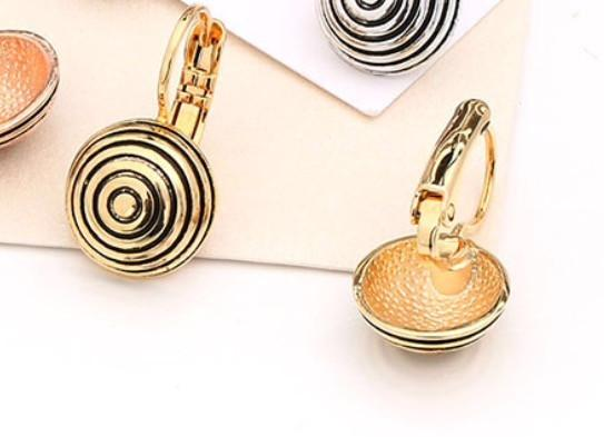 Gold Plated Absract Drop Earrings