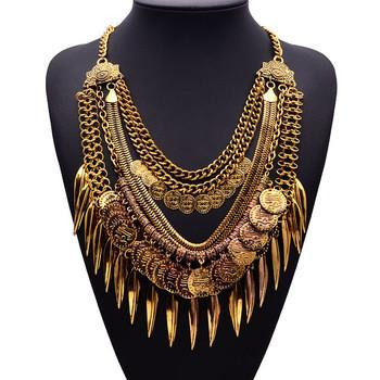 Boho Tassell Statement Necklace