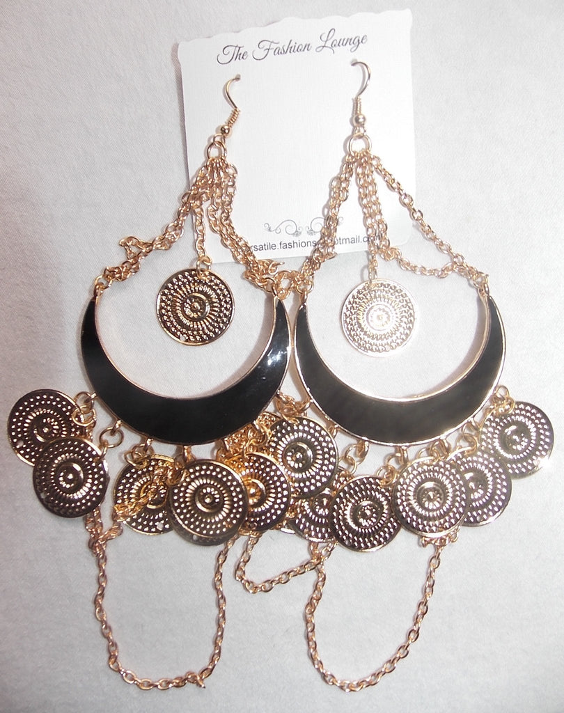 Coin Chunky Dangle Earrings