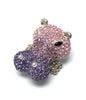 Large Hippo Multicolor Bling Ring