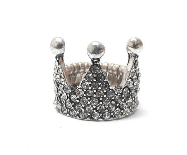Crown Bling Stretch Ring
