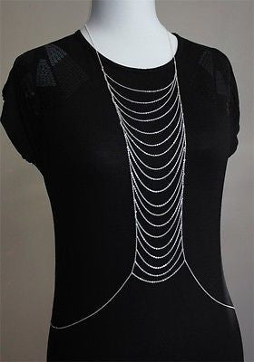 Silver Colored Chain Link Body Jewelry