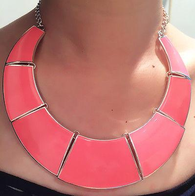 Chunky Salmon Colored Necklace