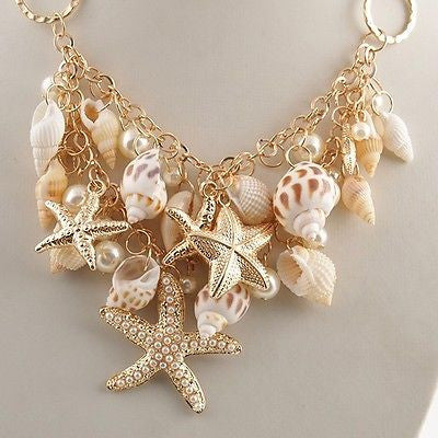 Shell with Pearls Necklace