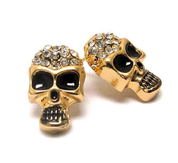 Goth Skull Bling Earrings