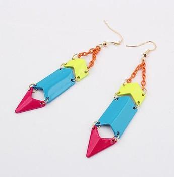 Bright Colored Dangle Earrings