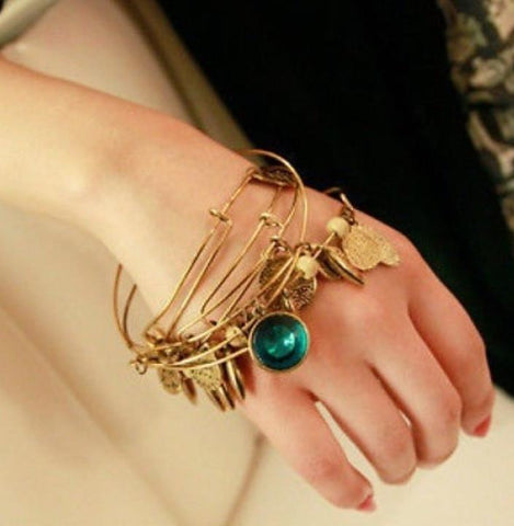 Long Abstract Cuff Bracelet