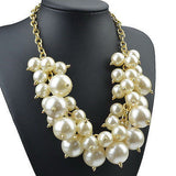 Pearl Chunky Cluster Necklace