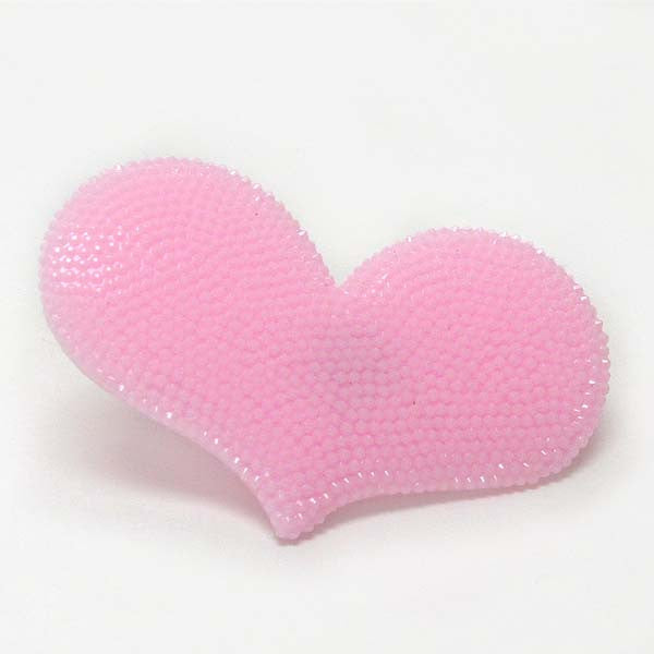 Large Pink Heart Acrylic Ring