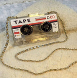 Transparent Tape Cassette Evening Clutch
