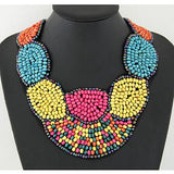 Bright Colored Beaded Necklace
