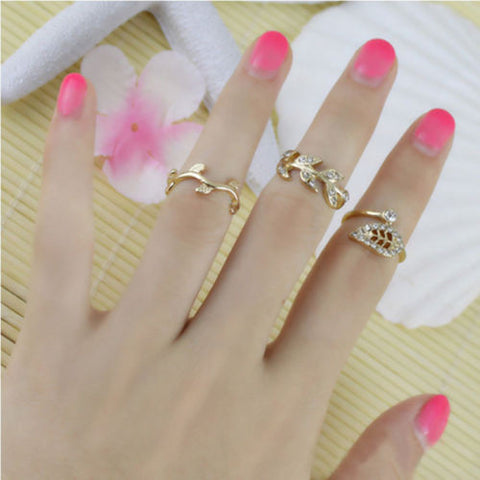 Gold Tone Two Part Ring