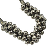 Silver Tone Bubble Necklace