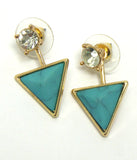 Natural Stone Triangle Earrings