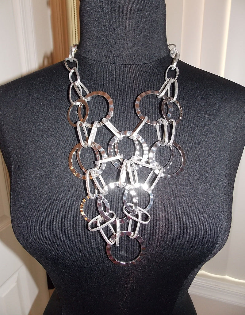 Long Multichain Statement Necklace