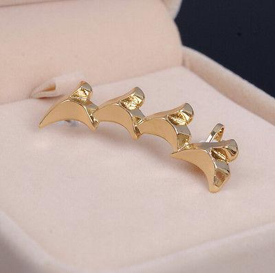 Gold Colored Shark Tooth Ear Cuff