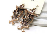 Skull Copper Earrings