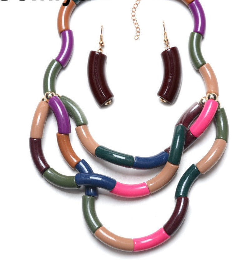 Unique Multicolor Necklace Set